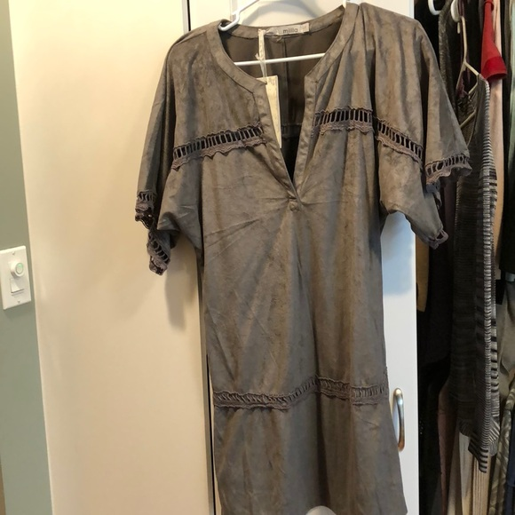 Miilla Clothing Dresses & Skirts - Grey suede like dress
